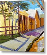 Country Village Metal Print