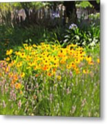 Countryside Cottage Garden 5d24560 Metal Print
