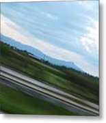 Countryside Flying By Metal Print