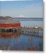Coupeville Jetty Metal Print