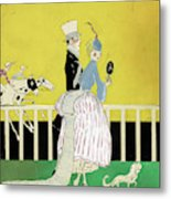 Couple At The Races, 1916 Metal Print