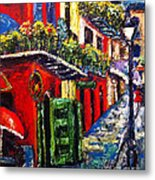Couple In Pirate's Alley Metal Print