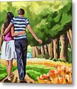 Couple In The Park 01 Metal Print