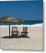 Couple In The Shade Metal Print