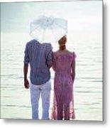 Couple On The Beach Metal Print