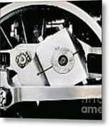 Coupling Rod And Driver Wheels For A Steam Locomotive Metal Print