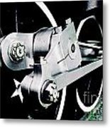 Coupling Rods And Driver Wheels For A Steam Locomotive Metal Print