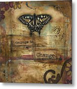 Courage To Change Metal Print