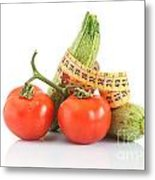 Courgettes And Tomatoes Metal Print
