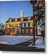 Court House In Winter Time Metal Print