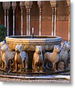 Court Of The Lions In The Alhambra Metal Print
