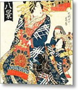 Courtesan Tsukasa 1828 Metal Print