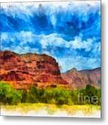 Courthouse Butte Sedona Arizona Metal Print