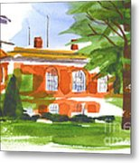 Courthouse On A Summers Evening Metal Print by Kip DeVore