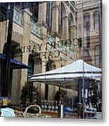 Courtyard Cafe Metal Print