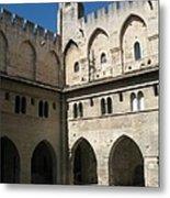 Courtyard - Palace Avignon Metal Print