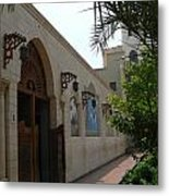 Courtyard To The Coptic Church Metal Print