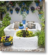 Courtyard With Washing Boards Metal Print
