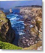 Cove On The Mendocino Coast Metal Print