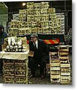 Covent Garden Market 1973 Metal Print by David Davies