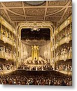 Covent Garden Theatre, From Microcosm Metal Print