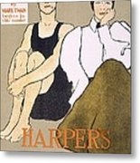 Cover Of Harpers Magazine, 1896 Metal Print