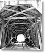 Covered Bridge Architecture Metal Print