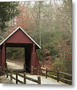 Covered Bridge Metal Print by Cindy Rubin