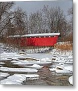 covered bridge Everett rd. Metal Print