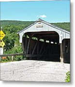 Covered Bridge For Pedestrians Metal Print
