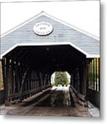 Covered Bridge North Conway Sacco River Metal Print