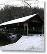 Covered Bridge Metal Print