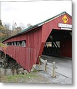 Covered Bridge Taftsville Metal Print
