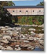 Covered Bridge Vermont Metal Print by Edward Fielding
