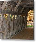 Covered Bridge Metal Print by Victoria Sheldon