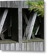 Covered Bridge Windows  Metal Print