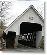 Covered Bridge - Woodstock Metal Print