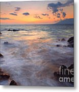 Covered By The Sea Metal Print