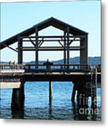 Covered Pier At Port Townsend Metal Print