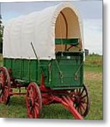 Covered Wagon Metal Print