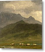 Covered Wagons Metal Print