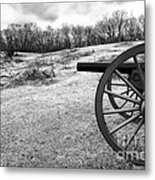 Covering The Field Metal Print
