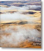 Covering The Gold Metal Print by Mike  Dawson