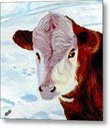Cow A Bunga Metal Print