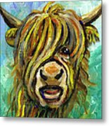 Cow Face 101 Metal Print