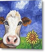 Cow Fantasy One Metal Print