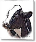 Cow Holstein - 0034 Fs Metal Print