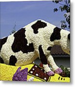 Cow On Clog 3 Metal Print