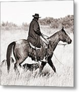 Cowboy And Dogs Metal Print by Cindy Singleton