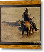 Cowboy Art By L. Sanchez Metal Print